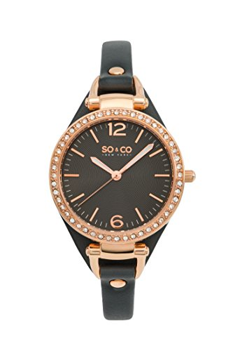 SO & CO New York 5061.1 - Reloj de Pulsera Mujer, Color Gris