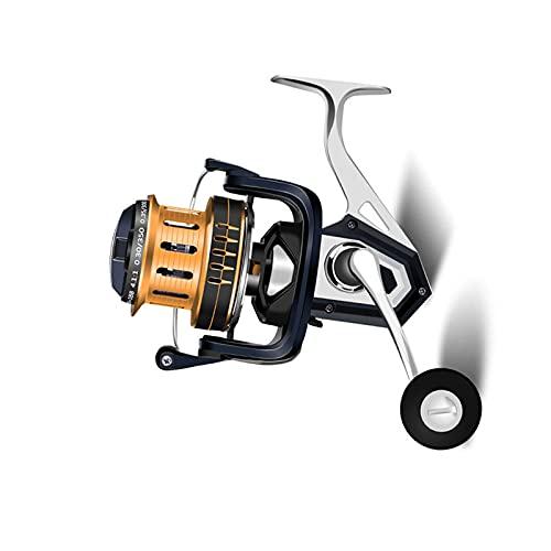 Carrete de Pesca 5,2:1 Giratorio Accesorio de Pesca de Aleación de Aluminio Todo de Metal Rodamiento Unidireccional
