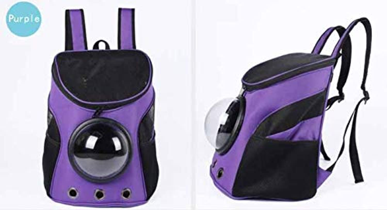 Pet Supplies Shoulder pet Out Carrying Bag Backpack New Dog pet Bag Space (color   Purple)