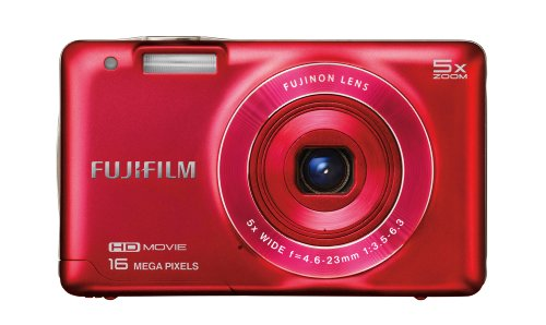 Fujifilm FinePix JX660 16 MP Digital Camera with 2.7-Inch LCD (Red)
