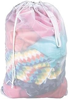 mDesign filet à linge – sac à linge pratique en tissu respirable – pour les vêtements humides et secs – sac de lavage rési...