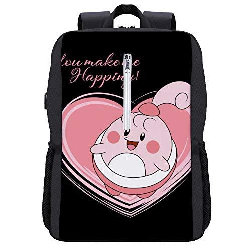 Monster Of The Pocket Love Happiny Rucksack Daypack Bookbag Laptop Schultasche mit USB-Ladeanschluss