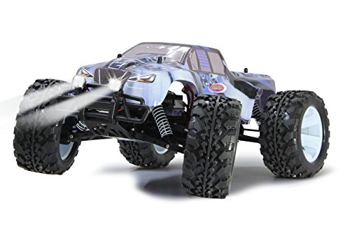 RC Auto kaufen Monstertruck Bild 4: Jamara Tiger Ice Monstertruck 1:10 4WD NiMh 2,4G LED - Allrad, Elektroantrieb, Akku, 35Kmh, Aluchassis, spritzwasserfest, Öldruckstoßdämpfer, Kugellager, Fahrwerk einstellbar, fahrfertig*