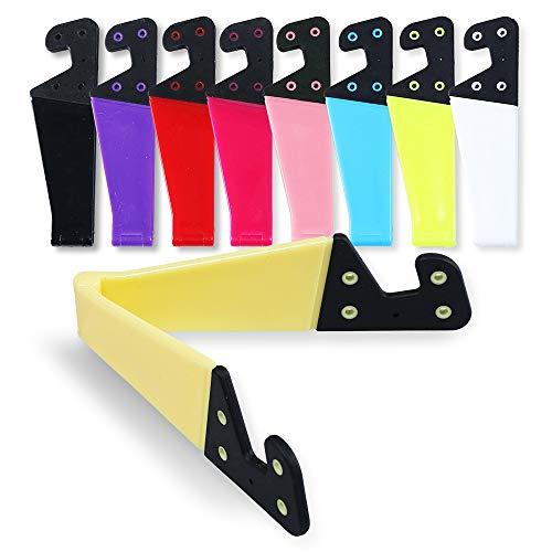 homEdge Soporte para teléfono móvil, Juego de 9 Piezas, Universal, Plegable, tamaño de Bolsillo, plástico en Forma de V, Soporte para Tableta y Smartphones