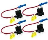 Hdigiworld Portafusible del circuito de batería de nuevo estándar de la hoja ATO ATC (caja 12v 24v) 12V 24V
