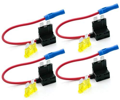 Wadoy 4tlg Autosicherungen Stromdieb Stromabgreifer Stecksicherung Steck Sicherung Verteiler Anschlußkabel