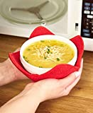 Microwave Bowl Huggers - Polyester - Handle Hot Bowls Without Burning Your Hands - Set of 4 Microwave Bowl Huggers