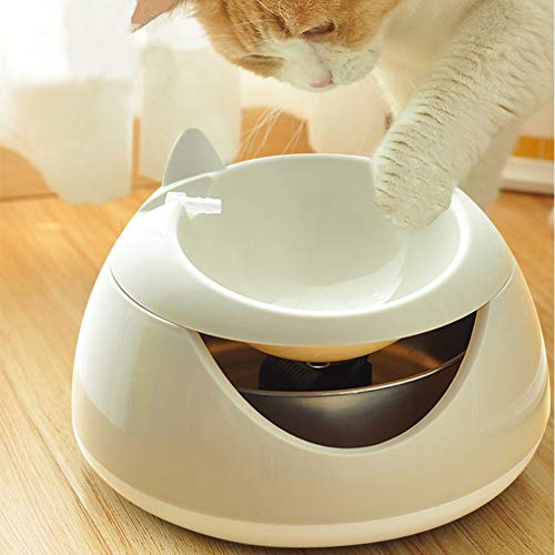 Cat Water Fountain, Automatic LED Drinking Fountain, Super Quiet Water Dispense For Cat, Dog (Beige Cat)