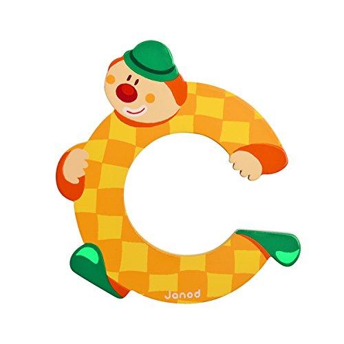 Janod J04544 C B004XS8GAG Lettre Clown en Bois Multicolore