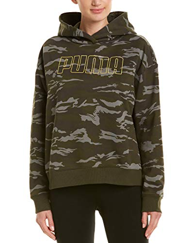 PUMA Camo Cropped Hoodie Forest Night All Over Print MD