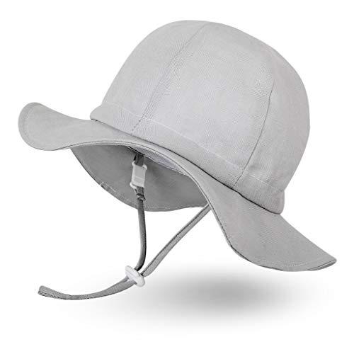 Ami&Li tots Mädchen Sonnenhut Verstellbarer Hut mit breiter Krempe Sonnenschutz UPF 50 für Baby Mädchen Jungen Säugling Kind Kleinkind Unisex