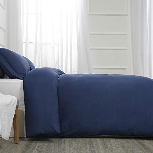 Best Season Full Size Bedding Duvet Cover Sets 3 Piece with 2 Pillow Shams,Zipper Closure Super Soft Brushed Microfiber Comforter Cover (Blue Color)