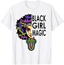 Black Girl Magic t Shirt African Dashiki Outfit Pride Month T-Shirt