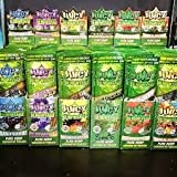JUICY JAY HEMP WRAPS 6 Mixed Flavors (25 Pack = Total 50 Wraps) with Free Torpedo Tube and Scoop Card
