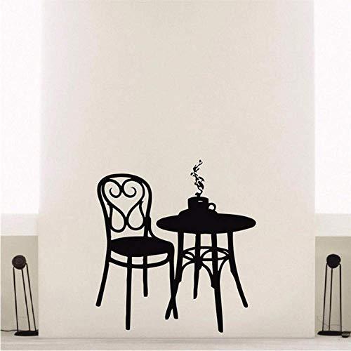 Cafetería Vinilo Tatuajes De Pared Café Té Café Restaurante Decoración De La Pared Mesa Silla Mural Arte Etiqueta De La Pared 56 * 87 Cm