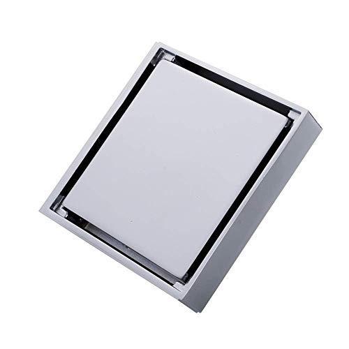 HXCD Bodenablauf Bodenablauf Unsichtbarer Anti-Blocking-Kupfer-Duschablauf Bodenablauf-Abfallablauf Haushaltsabwasser Feste Duschköpfe (Farbe: Silber, Größe: 10 x 10 x 5 cm)