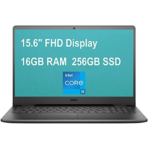 Dell Flagship Inspiron 15 3000 3501 Laptop Computer 15.6' Full HD Display 11th Gen Intel Quad-Core i5-1135G7 (Beats i7-10510U) 16GB RAM 256GB SSD WiFi Webcam Win10 Black