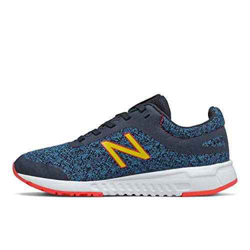 New Balance 455 V2 Lace-Up Running Shoe, Rogue Wave/Energy Red/Atomic Yellow, 12 US Unisex Little Kid