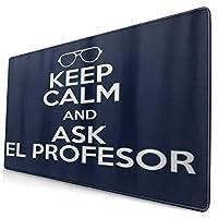 KIMDFACE 大型 マウスパッド La Casa De Papel落ち着いて、El ProfesorPrintに聞いてください 個性的 おしゃれ 柔軟 かわいい ゲーミングマウスパッド PC ノートパソコン オフィス用 デスクマット 滑り止め 特大 マウスマット