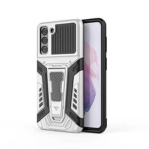 ZHENGNING Case Cover, per Il Caso di telefonia Mobile Samsung Galaxy S21, Custodia per Smartphone, Custodia per Cellulare con Supporto Antiurto Adatto per Samsung Galaxy S21 (Color : Pearl White)