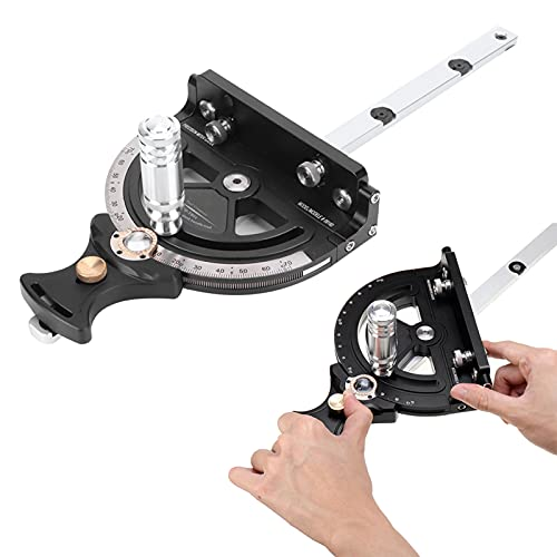 Table Saw, Woodworking 450x171mm Aluminium Alloy Miter Gauge Table Saw 1735g Detachable for Table Saw for Set Up and Read for DIY Woodworking Engraving Machine