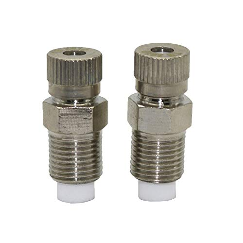 Impact Resistant Hose Compatible Accessories 0.1-0.6mm Atomization Nozzle Greenhouse Misting Industrial/Factory Cleaning, dust Removal Nozzle,Watering Kits 1 Pc (Color : 0.4mm)