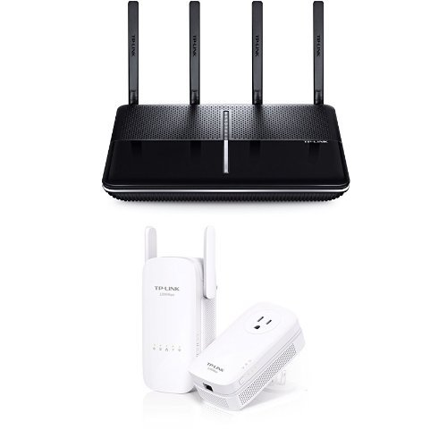 TP-Link AC3150 Wireless Wi-Fi Router and AC1200 Wi-Fi Range Extender, AV1200 Powerline Edition
