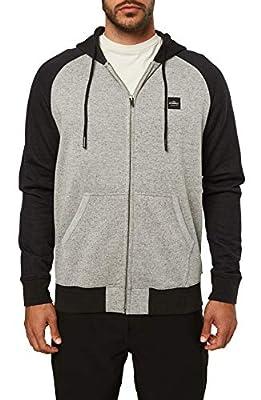 O'NEILL Men's Classic Full Zip Front Sweatshirt Hoodie (Gravel/Standard, XXL) by O'Neill