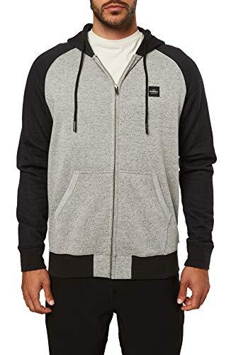 O'NEILL Men's Classic Full Zip Front Sweatshirt Hoodie (Gravel/Standard, XXL)