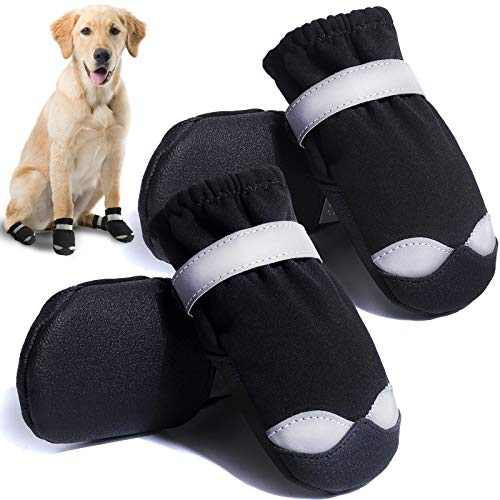 CALHNNA Dog Shoes for Hot Pavement Dog Boots for Medium Large Dogs Waterproof Dog Booties with...