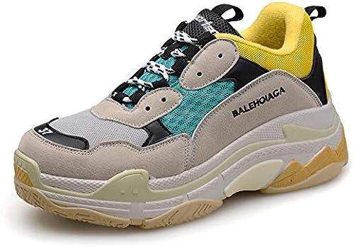 LOVDRAM Chaussures Hommes Printemps Nouveaux étudiants Chaussures De Sport Décontractées Sauvages Chaussures De Course pour Homme Chaussures De Course Chaussures De Couple