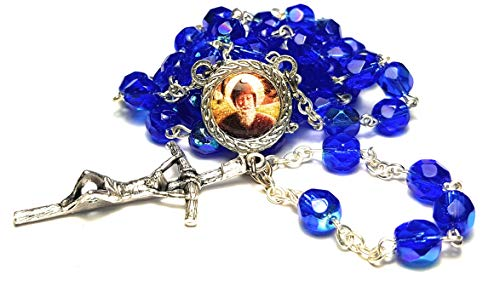 3rd class crystal glass relic rosary Saint Charbel Sharbel Makhlouf Maronite monk and priest from Lebanon prayer for healing
