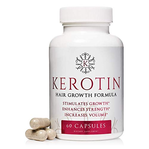 Kerotin Hair Growth Vitamins for Natural Longer, Stronger, Healthier Hair - Hair Loss Supplement...