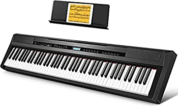 Donner DEP-20 Beginner Digital Piano 88 Key Full Size Weighted Keyboard, Portable Electric Piano with Sustain Pedal, Power Supply