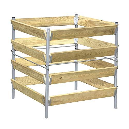 bellissa Komposter Holz/Metall 90 x 90 x 90 cm
