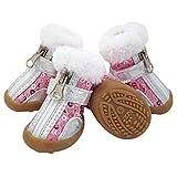 AMURAO Invierno cálido Zapatos pequeños para Perros Chihuahua...