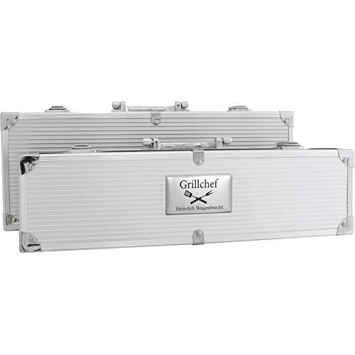 Druckspezialist Grillkoffer BBQ Koffer Grillbesteck 5-teilig mit Ihrer individuellen Gravur
