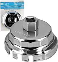 Oil Filter Wrench for Toyota Camry/Tundra/RAV4 - Moker 64mm 14 Flute Oil Filter Wrench Tool for Toyota/Lexus/Scion 2.0 to 5.7L Engines,Also Fits Avalon,Tacoma,Highlander,Sienna,4-Runner and more