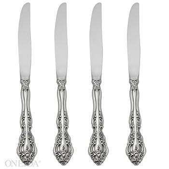 Oneida Michelangelo Fine Flatware Set 18/10 Stainless Set of 4 Dinner Knives