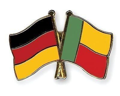 Germany & Benin Freundschaft Flaggen vergoldet Emaille Pin-Anstecker