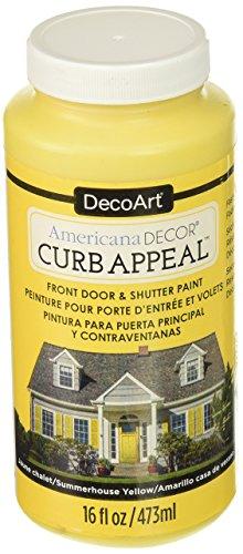 DecoArt Americana Curb Appeal Paint, Zomerhuis Geel, 15,74 x 6,98 x 6,98 cm