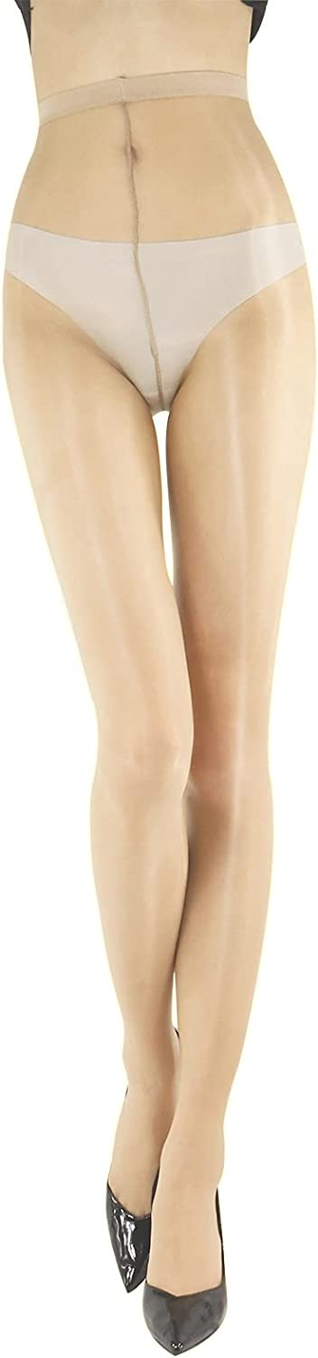 Women's 1 Den Ultra Sheer Tights Oil Shiny Pantyhose Hosiery Invisible Control Top Stockings Sexy High Waist Panty Hose