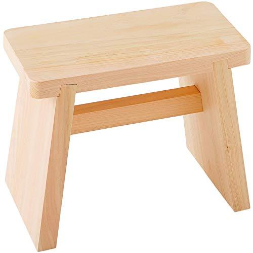 池川木材 風呂椅子 桧 風呂いす 大 30X16X25cm