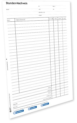 AVERY Zweckform 1773e Stundennachweis (von Rechtsexperten geprüft, zur exakten Aufzeichnung geleisteter Arbeitsstunden, inkl. Eintragung von Zulage sowie Abwesenheiten) [PDF-Download]