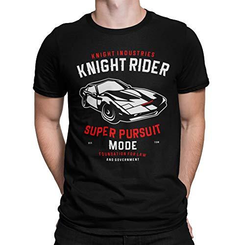 Camisetas La Colmena 4157-Knight Rider (S, Negro)