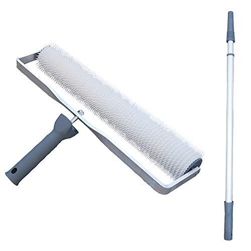 Entlüftungsroller - 40 cm + Teleskopstiel - Entlüftungswalze Betonentlüfterrolle Stachelwalze Igelwalze zum Entlüften von Bodenbeschichtungen, Ausgleichsmassen, Verlaufsbeschichtungen etc.