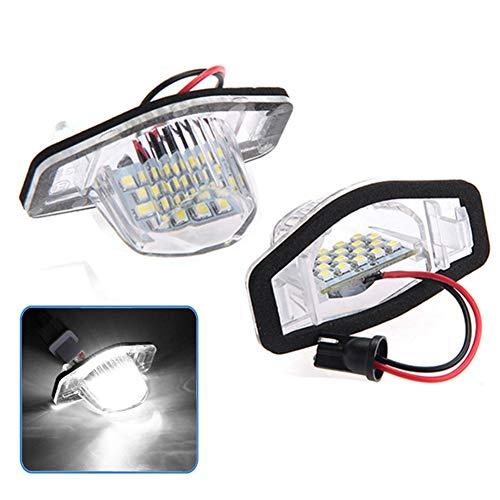 BEESCLOVER - Juego de 2 Luces LED de Repuesto para matrícula de Coche para Hon-da CRV, luz Blanca