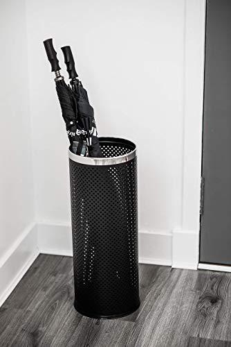 Costello® HQ Regenschirmständer/Gehstockhalter aus Metall, Schwarz