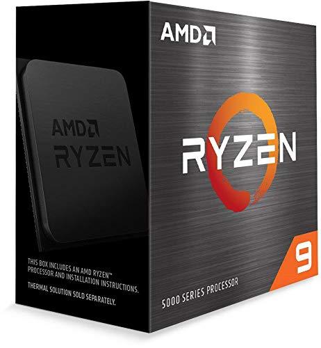 AMD Ryzen 9 5900X cooler なし 3.7GHz 12コア / 24スレッド 64MB 105W 100-100000061WOF 三年保証 [並行輸入品]