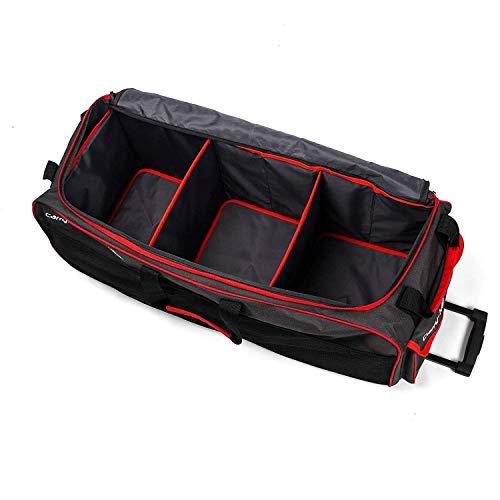 Roamwild Carry-More 3 en 1 Organizador de Almacenamiento de Maletero/Carrito Multi Compartimiento Patas Antideslizantes, Bolsillo Lateral de Malla y Bolsa frigorifica de 24 litros Plegable para Coche